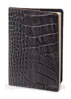 Обложка для паспорта VIP (KROCO темный шоколад), фото 1