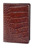 Обложка для паспорта VIP (KROCO коричневый), фото 1