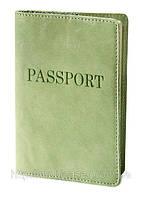 """Обложка для паспорта VIP (фисташковый) тиснение """"PASSPORT"""", фото 1"""