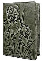 """Обложка для паспорта VIP ( зелёный) тиснение """"IRIS"""", фото 1"""