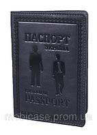 "Обложка для паспорта VIP (хамелеон серый) тиснение ""GENTLMEN"", фото 1"