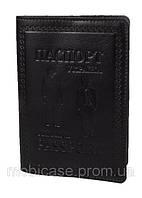 """Обложка для паспорта VIP (темно-коричневый) тиснение """"GENTLMEN"""", фото 1"""