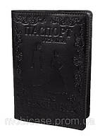 "Обложка для паспорта VIP (темно-коричневый) тиснение ""LADY"", фото 1"
