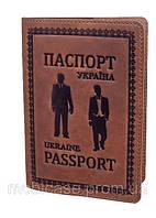 """Обложка для паспорта VIP (антик рыжий) тиснение """"GENTLMEN"""", фото 1"""
