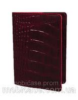 Обложка для паспорта VIP (KROCO красный), фото 1