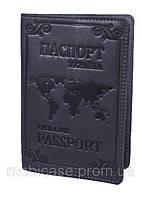 """Обложка для паспорта VIP (хамелеон серый) тиснение """"WORLD"""", фото 1"""