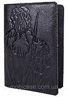 """Обложка для паспорта STANDART ( черный) тиснение """"IRIS"""", фото 1"""