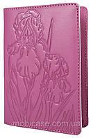 """Обложка для паспорта STANDART ( розовый) тиснение """"IRIS"""", фото 1"""