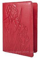 """Обложка для паспорта STANDART ( красный) тиснение """"IRIS"""", фото 1"""
