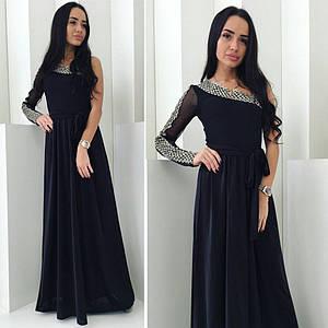 """Элегантное женское платье в пол """"Дубок 1 рукав"""" (44-Дубок)"""