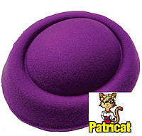 Основа-заготовка для шляпки, вуалетки таблетка из фетра Фиолетовая 16 см