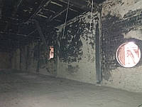 Пескоструйная очистка плит перекрытия от извести, краски гари, фото 1