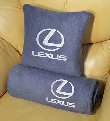 """Автомобильные плед в чехле с логотипом """"Lexus"""" цвет на выбор"""