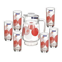 Кувшин со стаканами Luminarc Consrelation Red 7 предметов