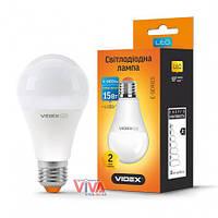 LED лампа светодиодная VIDEX A65e 15W E27 3000K 220V, фото 1