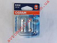 Лампа автомобильная трубчатая Osram C5W (цена за пару)