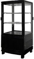 Шкаф-витрина холодильная FROSTY RT58L-1D черная с замком