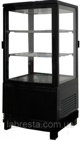 Шкаф-витрина холодильная FROSTY RT58L-1D черная с замком - LabResta в Киеве