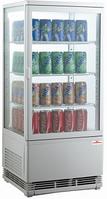 Шкаф-витрина холодильная FROSTY RT78L-1D белая с замком