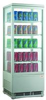 Шкаф-витрина холодильная FROSTY RT98L-1D белая с замком