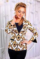 Женский Костюм пиджак с бриджами белый