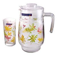 Кувшин со стаканами Luminarc Crazy Flowers 7 предметов