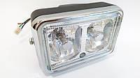 Фара ИЖ, МТ, Viper-125 квадратная белое стекло двойная ( на 2 лампочки) качество, Taiwan