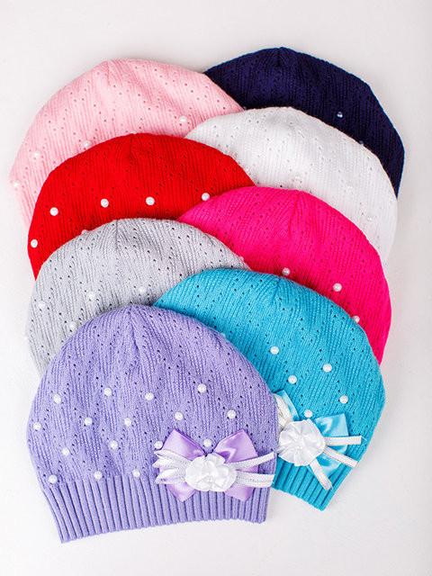 Детская шапка Забава Для девочек, Белый