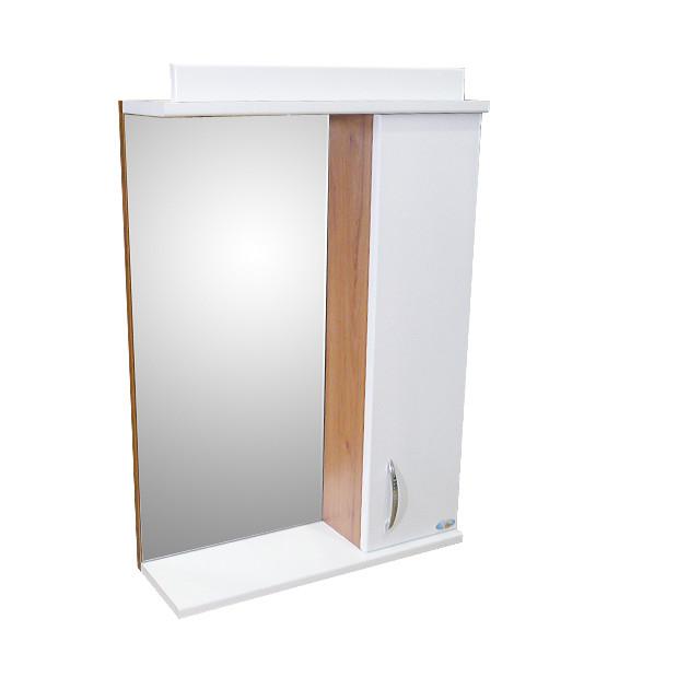 Зеркало Амадин с подсветкой 50 см Темный дуб