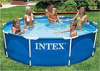 Бассейн каркасный Intex 28200. В комплекте к бассейну видеоинструкция.