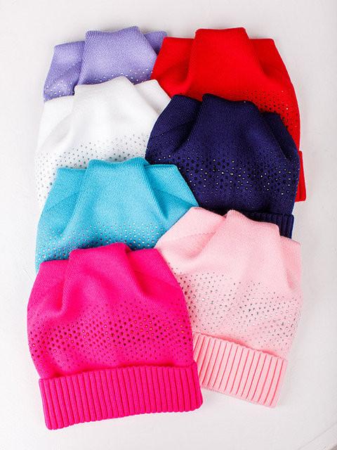 Детская шапка Катюша Стразы, Для девочек, Ушки, Белый