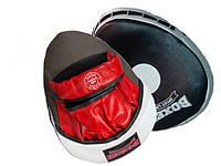 Лапы боксерские Boxer гнутые кожа с шариком