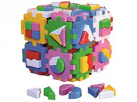 Игрушка куб Умный малыш Суперлогика ТехноК 2650, сортер
