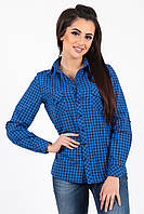 Рубашка в синюю клеточку