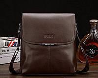 """Мужская кожаная  сумка  Polo размер """"S"""", фото 1"""