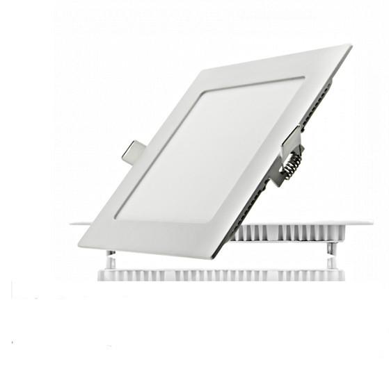Светодиодный встраиваемый светильник Horoz Electric  6W  квадрат белый (LED панель) 4200К / 6400К