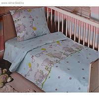 Детское белье в кроватку ТМ Блакит (Белоруссия), Мишутки, на резинке.