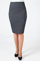 Молодежная женская юбка карандаш чёрного цвета