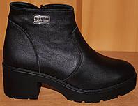Женские ботинки зима на среднем каблуке, женские ботинки от производителя модель В1617зи