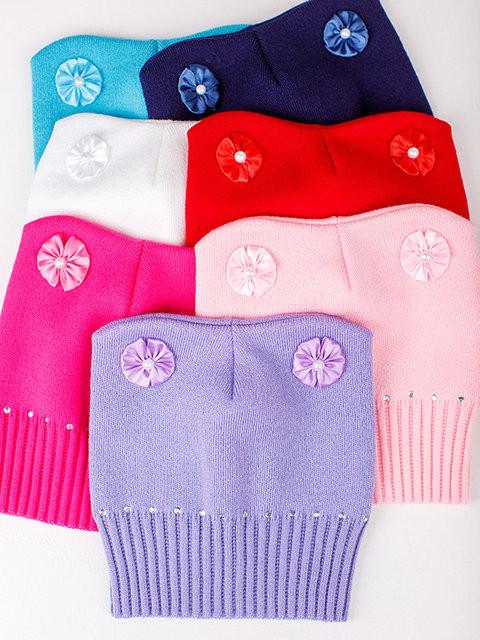 Детская шапка Мальвина Для девочек, Малина