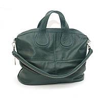 Женская кожаная сумка. Модель 22 зеленый флотар