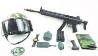Военный набор 8805 автомат, рация, часы, нож, граната, фляга