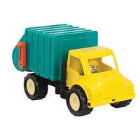 Мусоровоз с фигуркой водителя, игрушка серии Первые машинки, Battat
