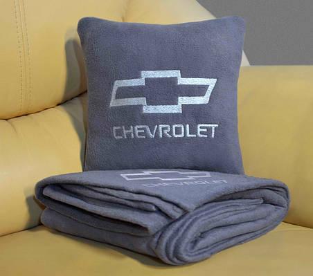 Набор: Подушка + плед  с вышивкой любого логотипа!