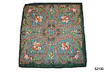 Платок шерстяной с турецким орнаментом изумрудный, фото 2