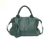 Женская кожаная сумочка. Модель 20 зеленый флотар