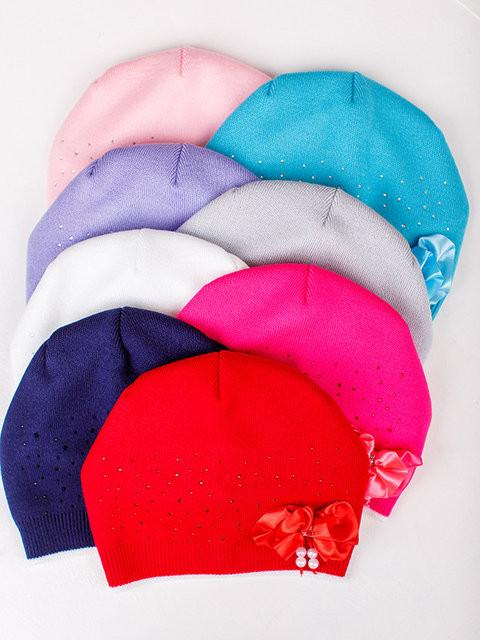Детская шапка Василиса Для девочек, Белый