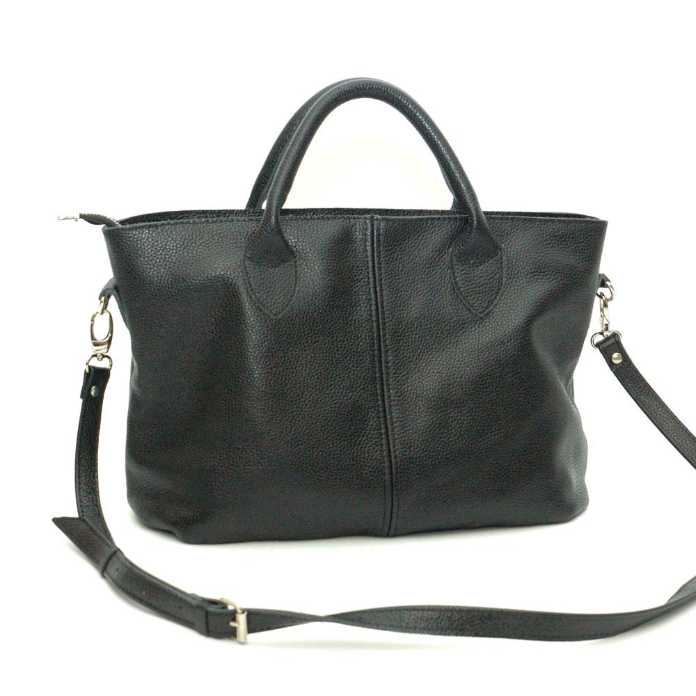 Женская сумка кожаная 23 черный флотар 01230101