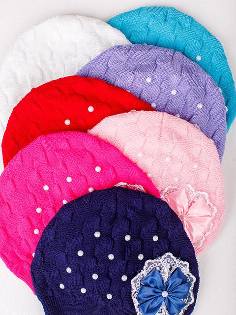 Детская шапка Римма Для девочек, Белый