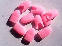 Силиконовые колпачки для снятия гель-лака розовые, в упаковке 10 шт.